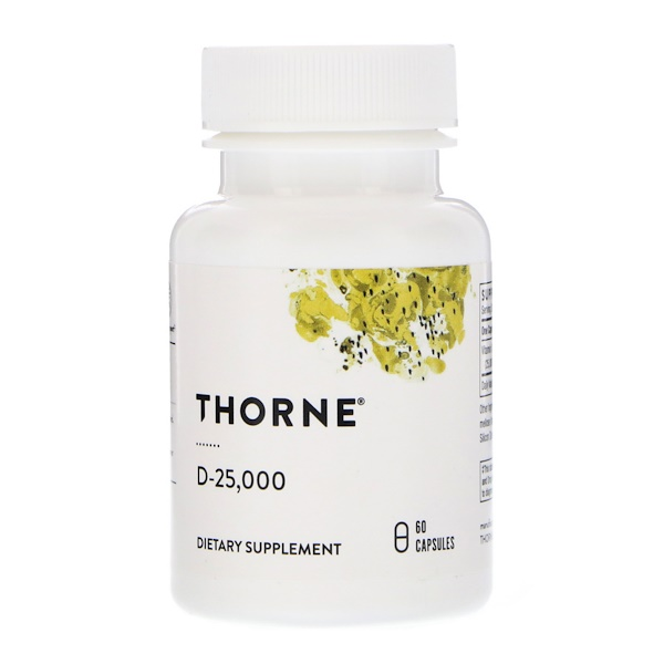Thorne Research, D-25 000, 60 капсул (Discontinued Item)