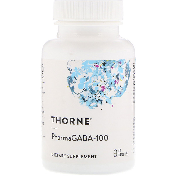 Thorne Research, PharmaGABA-100, 60 капсул