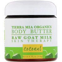 Body Butter, Raw Goat Milk Skin Therapy, Coconut, 4 fl oz (113 g) - фото