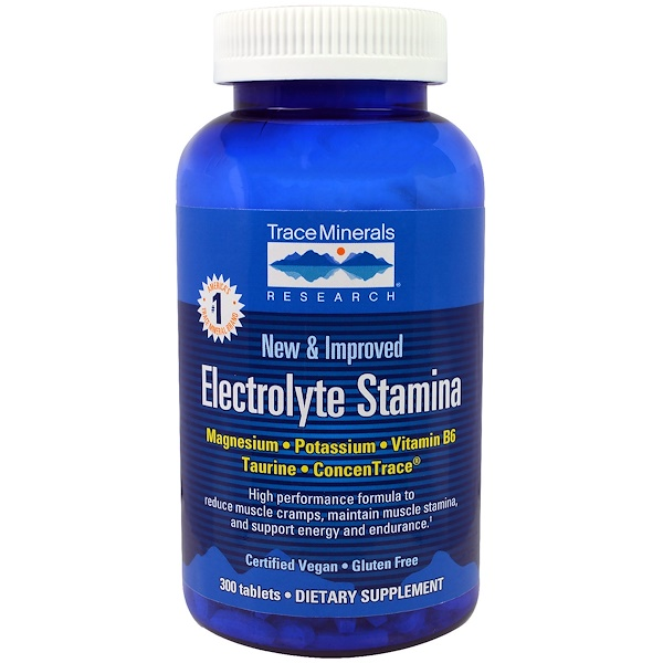 Trace Minerals Research, Electrolyte Stamina, 300 таблеток