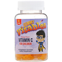 Gummy Vitamin C for Children, No Gelatin, Orange Flavor, 60 Vegetarian Gummies - фото