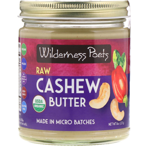 Wilderness Poets, Organic, Raw Cashew Butter, 8 oz (227 g) (Discontinued Item)