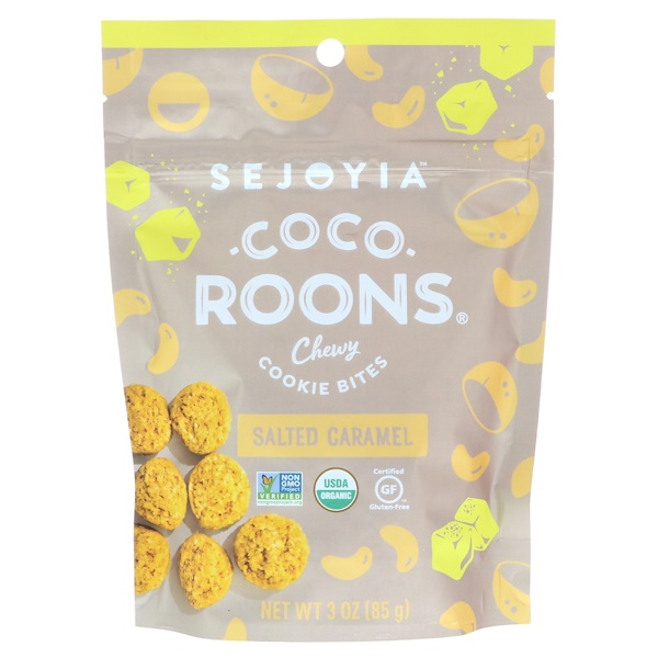 Sejoyia, Coco-Roons, Chewy Cookie Bites, соленая карамель, 3,0 унц. (85,0 г) (Discontinued Item)
