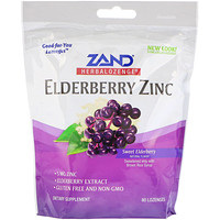 HerbaLozenge, Elderberry Zinc, Sweet Elderberry, 80 Lozenges - фото