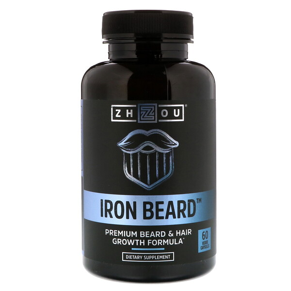 Zhou Nutrition, Iron Beard, 60 вегетарианских капсул