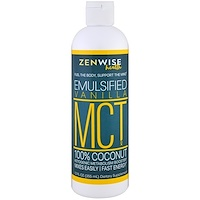 MCT Oil, 100% Coconut, Emulsified Vanilla , 12 fl oz (355 ml) - фото