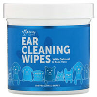 Ear Cleaning Wipes, For Dogs, 100 Presoaked Wipes - фото