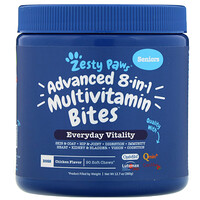 Advanced 8 in 1 Multivitamin Bites for Dogs,  Everyday Vitality, Senior, Chicken Flavor, 90 Soft Chews - фото